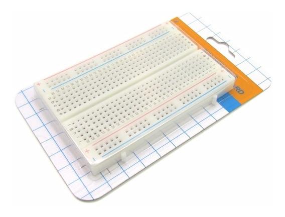 Protoboard Breadboard 400 Pontos Furos Prototipo Arduino