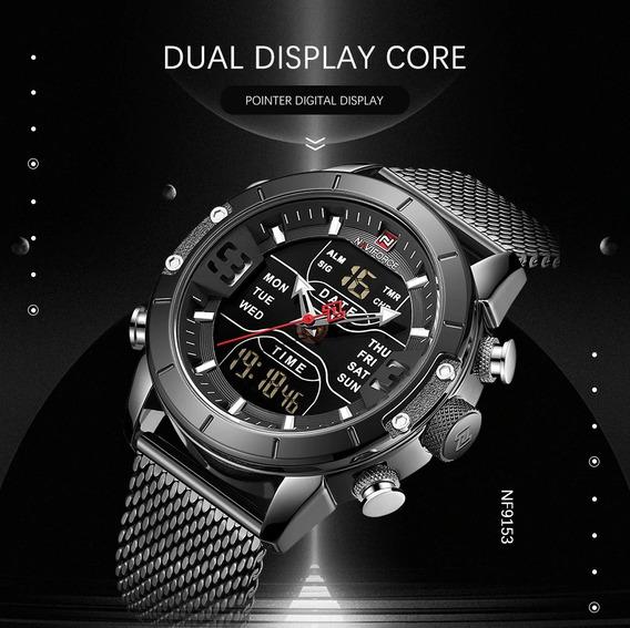 Relógio Masculino Naviforce , Esportivo Quartzo Top
