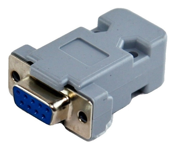Ficha Db9 Hembra Cable + Tapa Plástica Conector Db9 X50