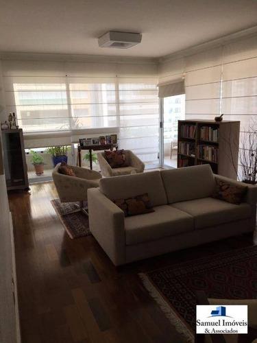 Imagem 1 de 15 de Apartamento Com 3 Dormitórios À Venda, 210 M² Por R$ 3.000.000,00 - Brooklin - São Paulo/sp - Ap2065