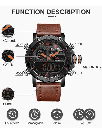 Relógio Esportivo Relógio Militar Masculino Naviforce 9134