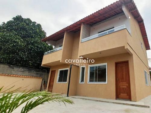 Casa Com 2 Dormitórios À Venda, 72 M² Por R$ 158.000,00 - Inoã - Maricá/rj - Ca3761