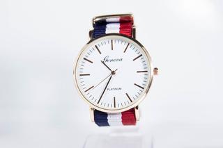 Reloj Hombre Mujer Malla Nato Tela Francia Rosa Gucci