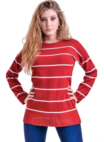 Sweater Liviano Suave Fino Mujer Hermoso Kierouno