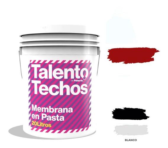 Membrana Pasta Roja Techos 20 Lt Talento Oferta Sin Interes