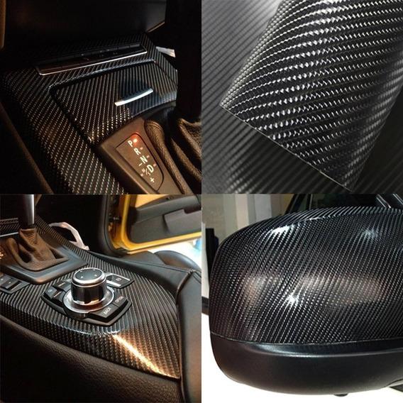Adesivo Envelopamento Automotivo Carbono Cores 4d 1mx50cm