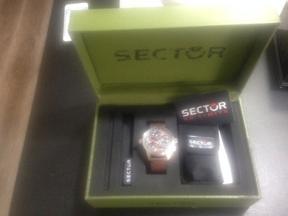 Relogio Sector Dual Time Original Com Nf