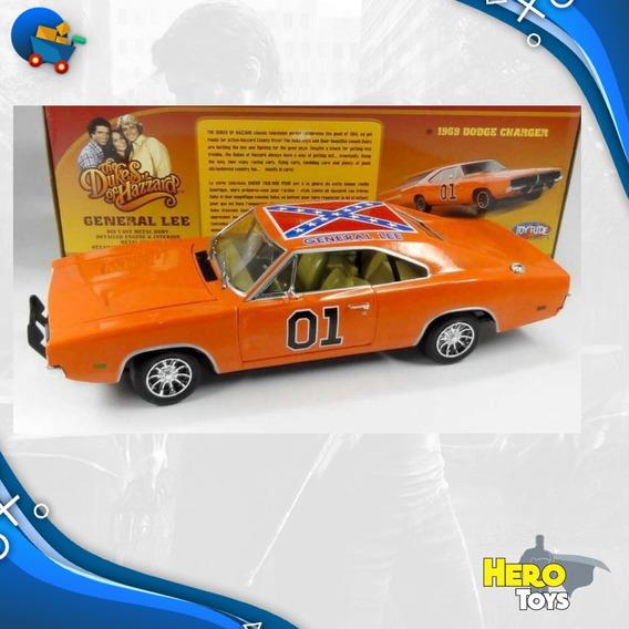 Dodge General Lee Escala 1/18 Metal Johnny Vintage Novo