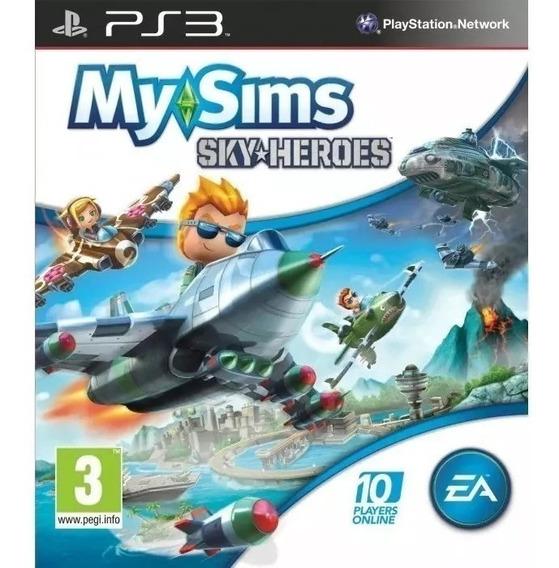 Jogo My Sims - Sky Heroes - Ps3 Novo Lacrado Midia Fisica