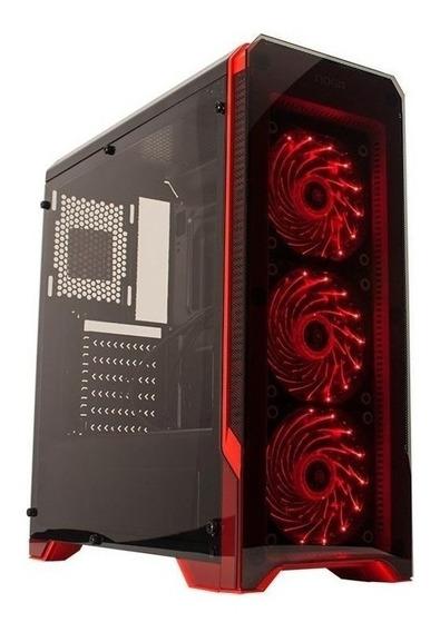 Gabinete Gamer Noga 8609 + 3 Cooler Usb 3.0 C/led