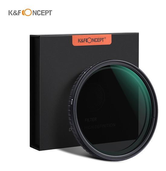 K&f Conceito 67mm Filtro Fader Nd2-nd3 Ajustável Densidade