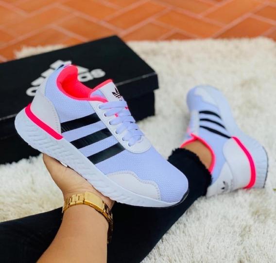 Zapatos Blancos Mujer Altos Tenis Adidas para Mujer en