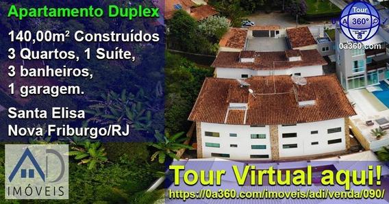 Apartamento Para Venda Em Nova Friburgo, Santa Elisa, 3 Dormitórios, 1 Suíte, 3 Banheiros, 1 Vaga - 090