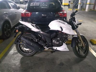 Moto Tvs Apache Rtr 200 Blanca
