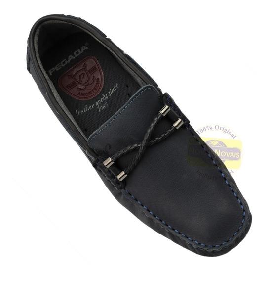Sapato Sapatiha Masculina Pegada Marinho Com Nota Fiscal