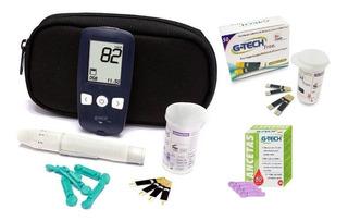 Kit Medidor De Glicose G-tech Free 1 100 Tiras 100 Lancetas