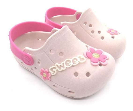 Babuche Infantil Sweet Nude/rosa Tipo Crocs