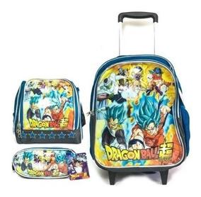 Kit Mochila Escolar Grande Completo Dragon Ball Super Boleto