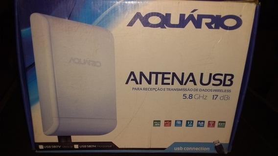 Antena Aquário Usb Para Recepção E Transmissão De Dados Wire