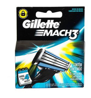 Cartucho Repuesto Maquina De Afeitar Gillette Mach3 X 4u