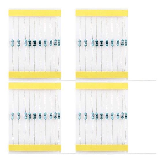 40 Resistor 220 1k 10k 100k 10 Un Cada 1/4w 1% Arduino Esp