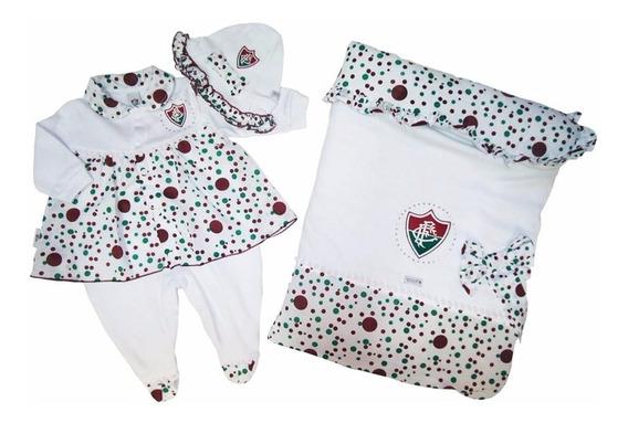 Saída Maternidade Fluminense Super Luxo Oficial Menina
