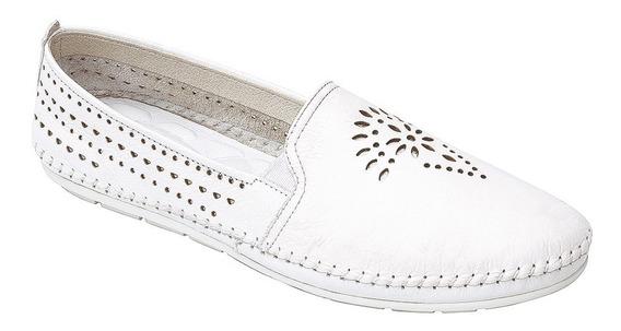 Calzado Dama Mujer Zapato Flat Casual Flexi Blanco Comodo