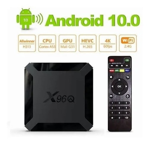 Tv Box 4k 2gb/16gb + De 800 Canales Premium, Netflix, Disney