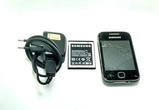 Celular Samsung Galaxy Com Tela Trincada Gt S5360b Funcionad