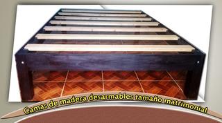 Base Para Cama Matrimonial De Credro, Desarmables