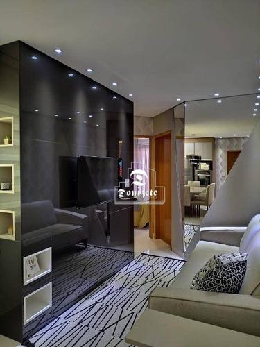 Imagem 1 de 11 de Apartamento Com 2 Dormitórios À Venda, 50 M² Por R$ 290.000,00 - Vila Curuçá - Santo André/sp - Ap16726