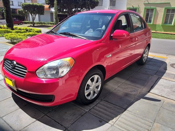 Hyundai Accent Visión 1.4, Mod. 2008, Color Rojo, 62.600 Km.