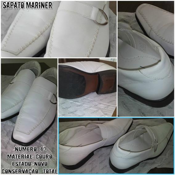 Sapato Em Couro Branco Mariner