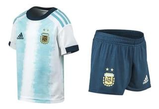 Kit Bebe adidas Selección Argentina 2019 Short Y Camiseta
