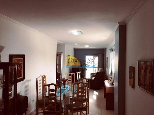 Cobertura Com 3 Dormitórios À Venda, 175 M² Por R$ 730.000,00 - Vila Guilhermina - Praia Grande/sp - Co0059