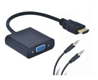 Adaptador Convertidor Video Cable Hdmi A Vga Notebook Pc Led