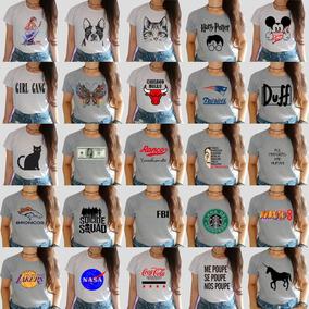 Kit 25 T-shirts Blusas Feminina Para Revenda Atacado Barato!