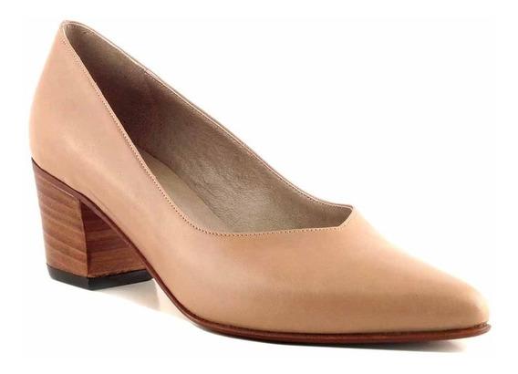 Zapato Stilleto Mujer Briganti Cuero Punta Vestir Mccz33027