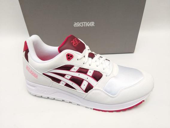 Tênis Asics Tiger Gel Saga Off White Vermelho 90 Original