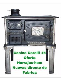 Cocina A Leña Carelli N°1 B Horno De Chapa Herrajes-hem