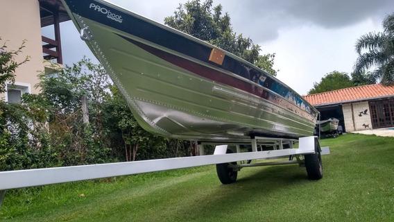 Barco De Alumínio De Seis Metros+carreta+capa