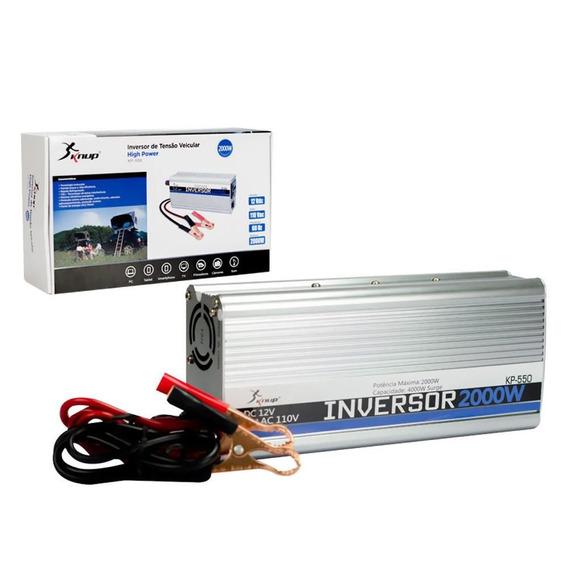 Inversor Tensao 2000w Veicular Conversor E Transformador 12v
