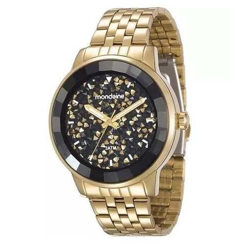 Relógio Dourado Elegance Mondaine Feminino 94713lpmvde2