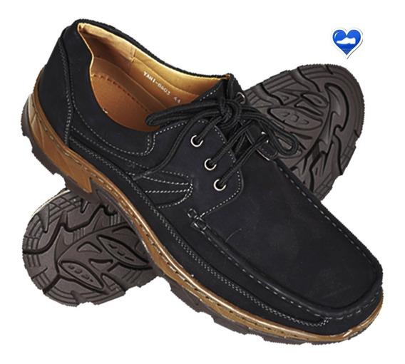 Zapato Hombre Cuero Importado Mod Leñador De Shoes Bayres
