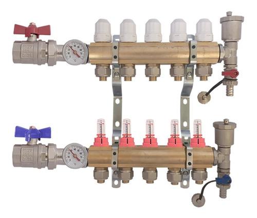 Colector De 5 Vías Heat Flow Completo-caudal Y Termometro
