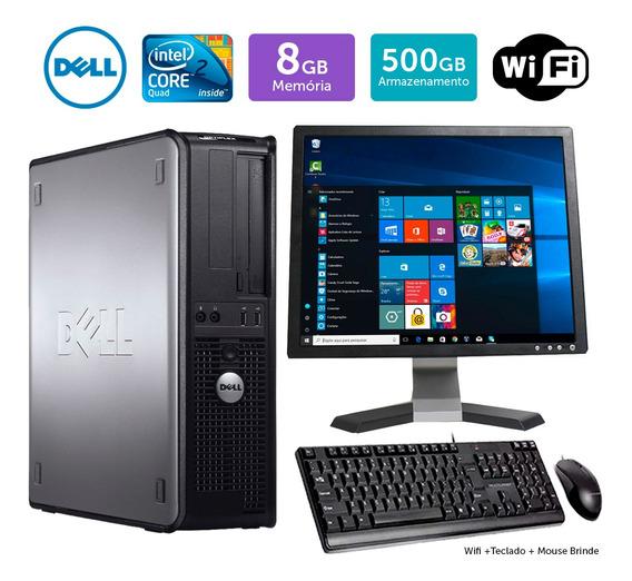 Pc Usado Dell Optiplex 780int C2quad 8gb 500gb Mon17q Brinde