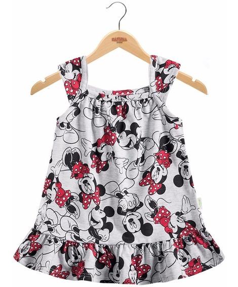 Vestido Infantil Minnie Disney Baby By Brandili Para Meninas