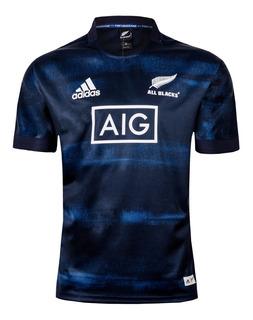 Camisa Rugby All Blacks Oficial Preta & Marinho Serie Parley