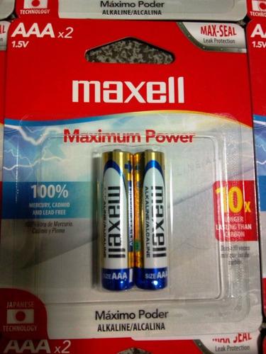 Pila Batería Tabaquito Alcalina Maxell Doble A Y Triple A