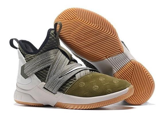 Zapatillas Nike Lebron Soldier Xii Basquet Profesional Verde